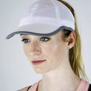 white sport mesh hat side