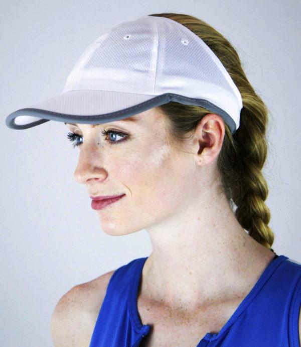 white Sport Mesh hat, view 2