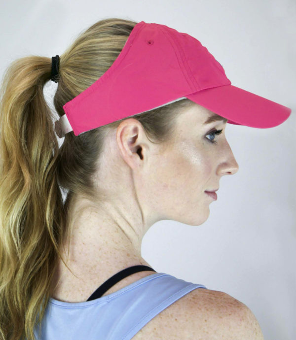 Pink microfiber hat