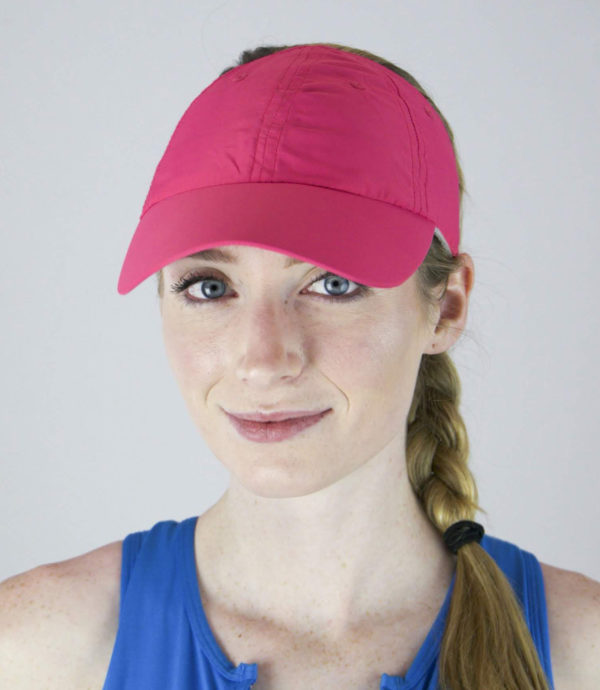 fuchsia microfiber hat front view
