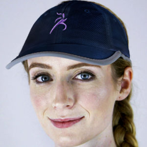 navy sport mesh hat - run