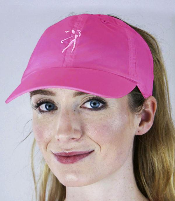 fuchsia microfiber hat - golf