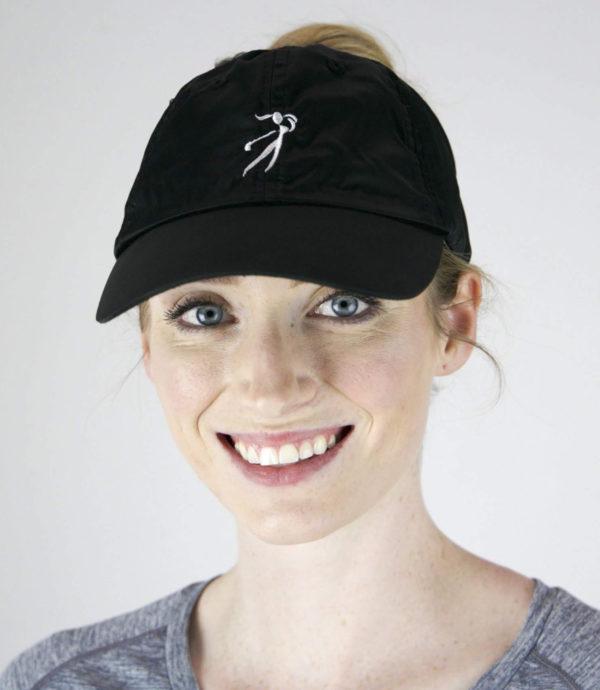 microfiber golf hat, black